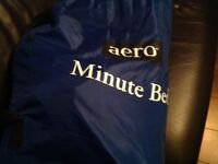 Aero Minute inflatable single bed, with 2 rechargeable pumps