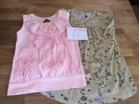 Two Baby Girl Top/Dress Size 12-18 Months