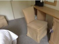 Bedroom chairs for sale due to refurbishment . In very good condition .colour cream .must pick up .