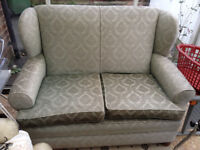 Green Chair/Sofa Two Seater Double Sofa