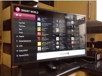 """LG 42"""" 42LF580V Smart FULL HD TV with built in Wifi,Freeview HD, Netflix,Youtube,NO BASE STAND"""