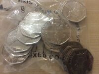"Peter Rabbit 50p x 20 Unicirculated Coins ""almost BU"""