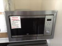 Beko intergrated stainless steel microwave. £139 new/graded 12 month Gtee