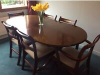 Mahogany Extendable Dining-room Table