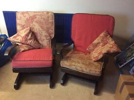2 very comfortable rocking chairs