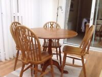 Pine Wooden table and 4 chairs