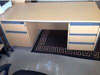 Office desk light oak