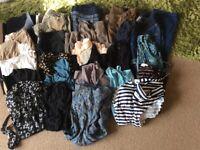 Large bundle of maternity clothes size 8 - 10