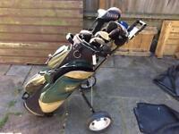 Golf set with caddy