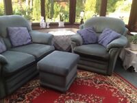 Two seater plus chair plus foot stool...smoke free and pet free home