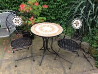 Mosaic garden table and chairs