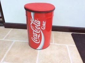 Retro Vintage Coca Cola Tin 25 years old bin