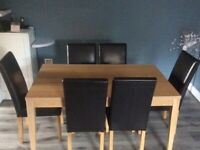 Harveys 6 dining chairs and Argos Table