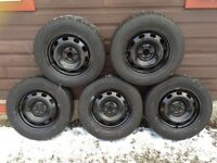 5 Winter tyres on 15 inch steel wheels - off Golf TDI - excellent tread