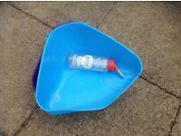 Rabbit litter tray and water bottle