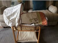 Moses Basket with stand and Coverlet: Mamas and Papas
