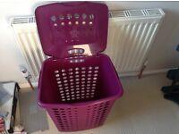 Purple laundry bin/basket
