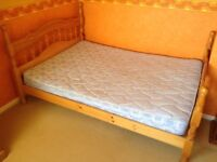 Pine Double Bed with FREE Mattress