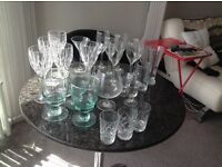 23 assorted, but perfect wine glasses for sale.
