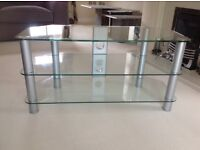 Immaculate Glass TV Stand - as new condition.