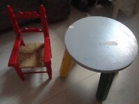 STOOL AND SMALL CHAIR