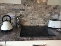 RUSSELL HOBBS cream kettle + matching 2-slice toaster £25