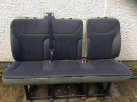 Vauxhall Vivaro Triple Middle Bench Seats (fits Renault Trafic too)