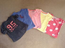 Girls selection of short sleeved T-shirts size 3 yrs