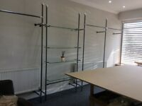 Clothes Rails and Glass Shelving