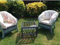 Shabby Chic renovated furniture for conservatory or garden covered area for sale