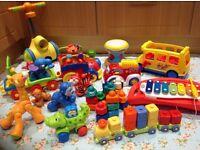 Toy bundle, Fisher Price Amazing Animals Choo Choo Train, ELC drum, Tomy Walker, Little Tikes