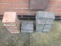 Job lot of used/unused paving bricks