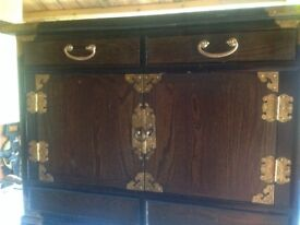 Lovely small oriental style cabinet