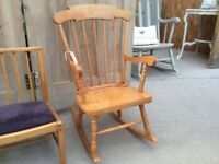 Child's wooden rocking chair suit around age 5-6yr old