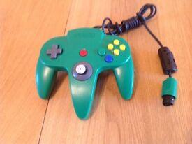 NINTENDO 64 GREEN CONTROLLER GENUINE & OFFICIAL N64