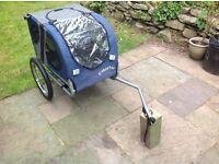 Doggy hut dog bike trailer, medium size