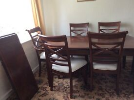 Cousins Dinning Table + 8 Chairs