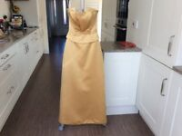 Gold bridesmaid/prom dress.