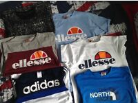 Ellesse,North Face,Adidas, Nicce T-Shirts