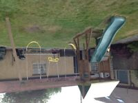 BRIGHTHOUSE FORT, SWING, CLIMBING FRAME AND SLIDE