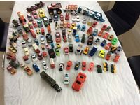 Well over 100 plus toy cars