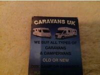 Caravans & campers wanted