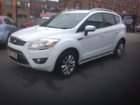 Ford kuga 2.0 titanium TDCI diesel 2011 only 55000 miles FSH MOT MARCH 2018 frozen white
