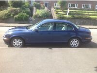 S type Jaguar 3.0 V6 Sept 2000 1 owner from new full service history excellent condition metal. blue