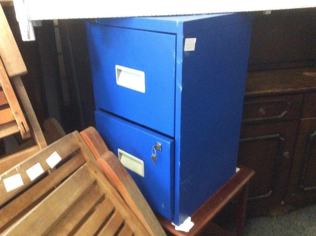 2x drawer filing cabinet