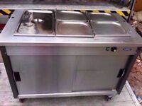 COMMERCIAL BAIN MARIE FASTFOOD HOT CATERING MACHINE + UNDERNEATH CUPBOARD BUFFET CANTEEN KITCHEN