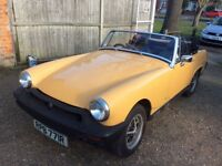 MG MIDGET 1,5 1977 GOLD BLACK LEATHER SEATS