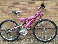 Girl's /Ladies Raleigh Roxz Dual Suspension Bike