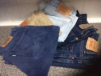 Levi jeans ... five pairs