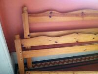 Cheap Wooden Double Bed Frame No Screws No Slats / Can Deliver